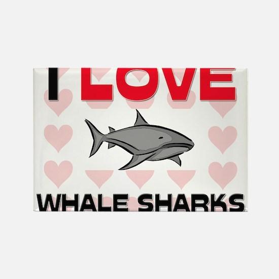 I Love Whale Sharks Rectangle Magnet