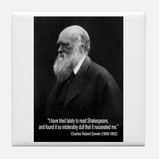 Charles Darwin Quotes Tile Coaster
