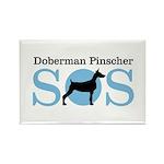 Dobie SOS Rectangle Magnet (10 pack)