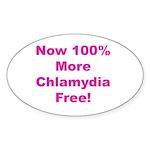 Chlamydia Free Sticker (Oval 50 pk)