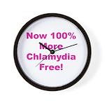 Chlamydia Free Wall Clock