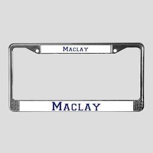 "Maclay ""Collegiate"" License Plate Frame"