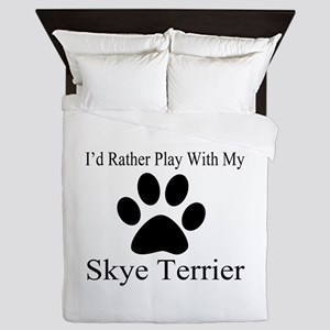 Skye Terrier Dog Designs Queen Duvet