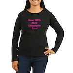 Chlamydia Free Women's Long Sleeve Dark T-Shirt