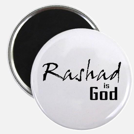 "Rashad is God 2.25"" Magnet (100 pack)"