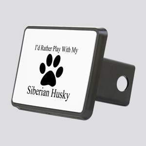 Siberian Husky Dog Designs Rectangular Hitch Cover