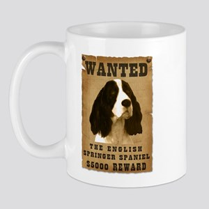 """Wanted"" English Springer Spaniel Mug"