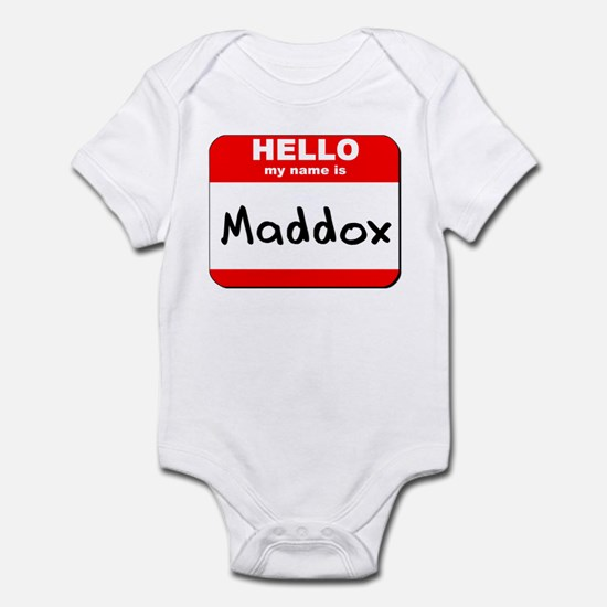 Hello my name is Maddox Infant Bodysuit
