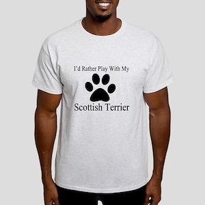 Scottish Terrier Dog Designs Light T-Shirt