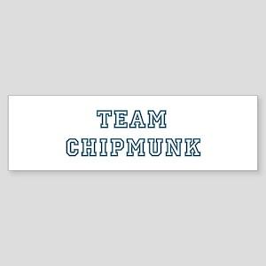 Team Chipmunk Bumper Sticker