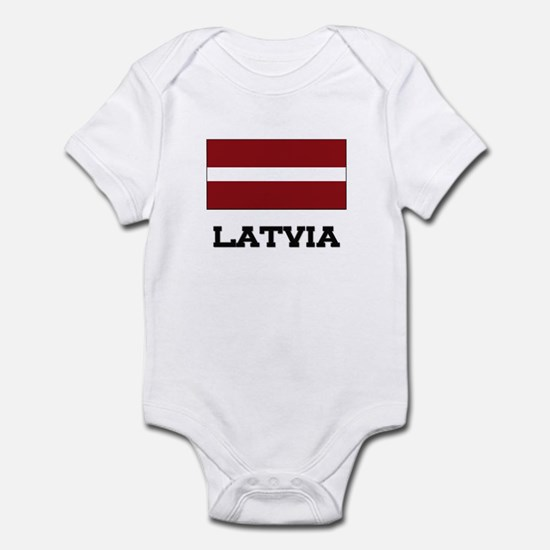 Latvia Flag Infant Bodysuit