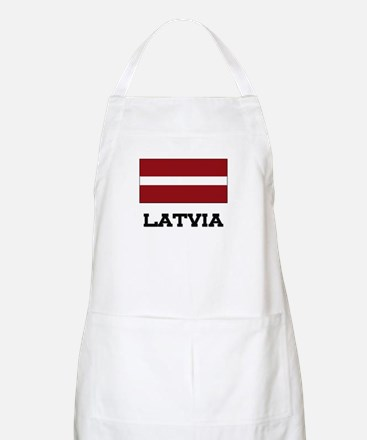 Latvia Flag BBQ Apron