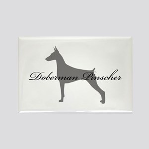 Doberman Pinscher Rectangle Magnet