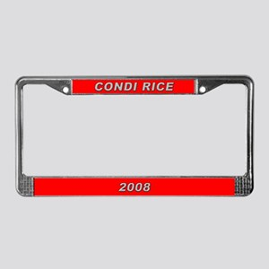 Condi Rice License Plate Frame-3