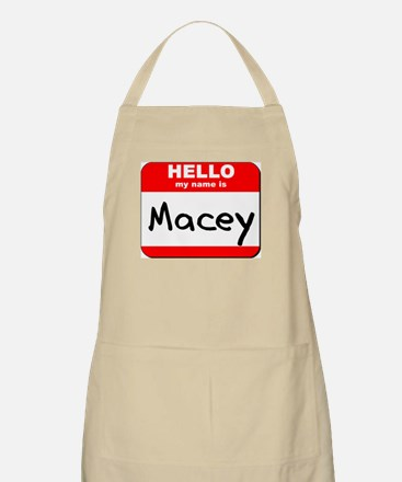 Hello my name is Macey BBQ Apron
