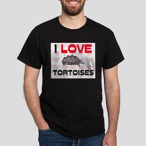 I Love Tortoises Dark T-Shirt