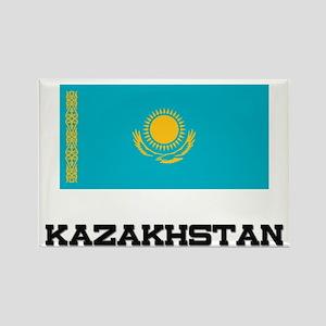 Kazakhstan Flag Rectangle Magnet