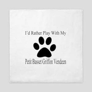 Petit Basset Griffon Vendeen Dog Desig Queen Duvet