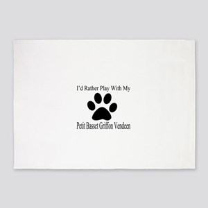 Petit Basset Griffon Vendeen Dog De 5'x7'Area Rug