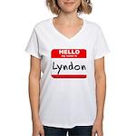 Hello my name is Lyndon Women's V-Neck T-Shirt