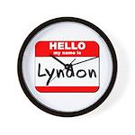 Hello my name is Lyndon Wall Clock