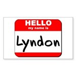 Hello my name is Lyndon Rectangle Sticker