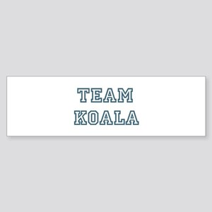 Team Koala Bumper Sticker