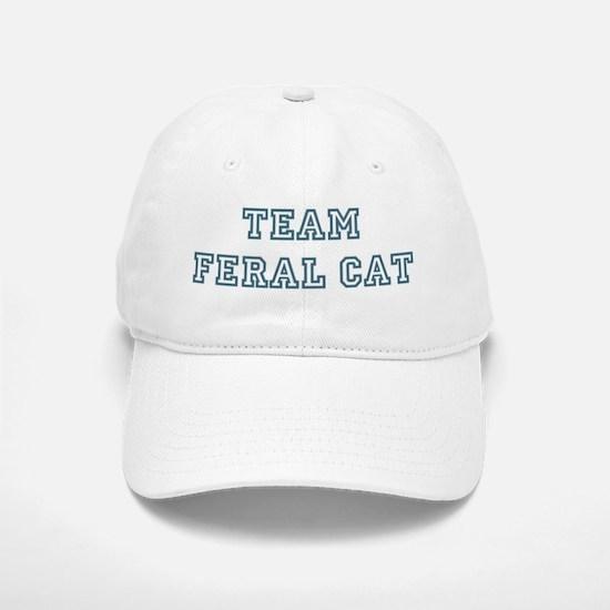 Team Feral Cat Baseball Baseball Cap