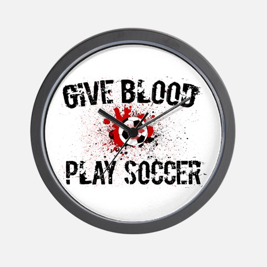 Give Blood Play Soccer Wall Clock