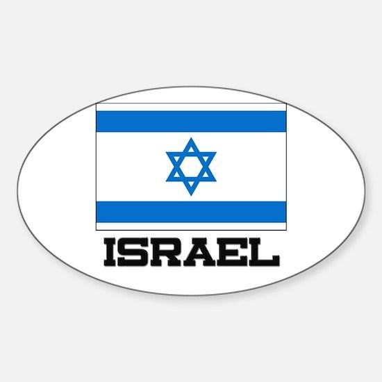 Israel Flag Oval Decal