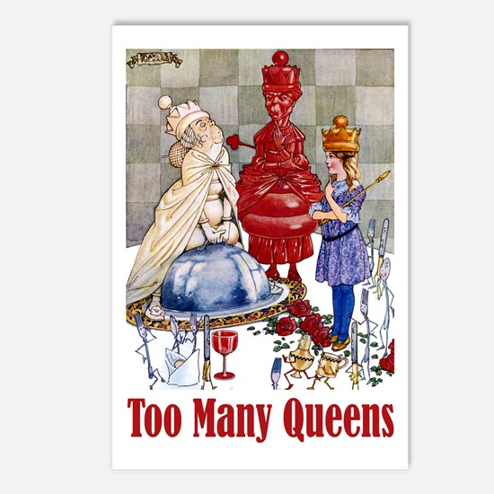 ALICE: TOO MANY QUEENS Postcards (Package of 8)