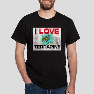 I Love Terrapins Dark T-Shirt