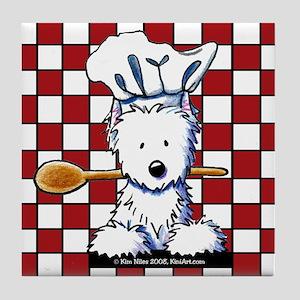 Westie Chef Tile Coaster