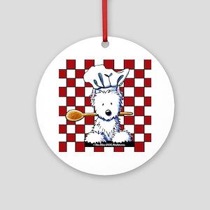 Westie Chef Ornament (Round)