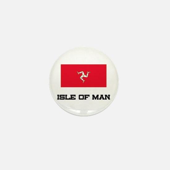 Isle Of Man Flag Mini Button