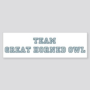 Team Great Horned Owl Bumper Sticker