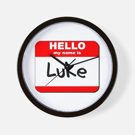 Hello my name is Luke Wall Clock