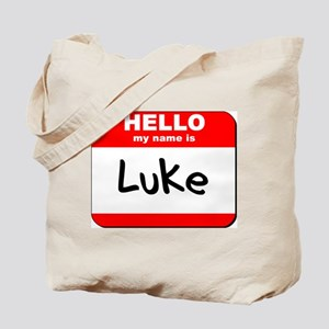Hello my name is Luke Tote Bag