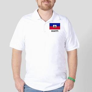 Haiti Flag Golf Shirt