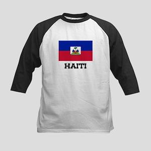 Haiti Flag Kids Baseball Jersey