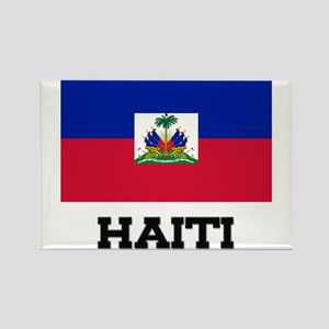 Haiti Flag Rectangle Magnet