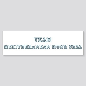 Team Mediterranean Monk Seal Bumper Sticker