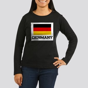 Germany Flag Women's Long Sleeve Dark T-Shirt