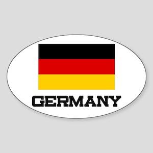 Germany Flag Oval Sticker