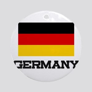 Germany Flag Ornament (Round)