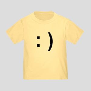 Happy Face Toddler T-Shirt (yellow)