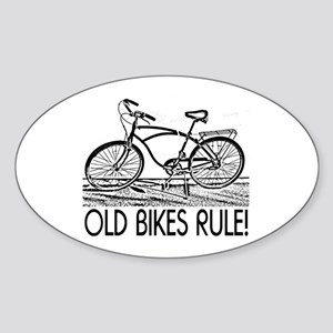 Old Bikes Oval Sticker