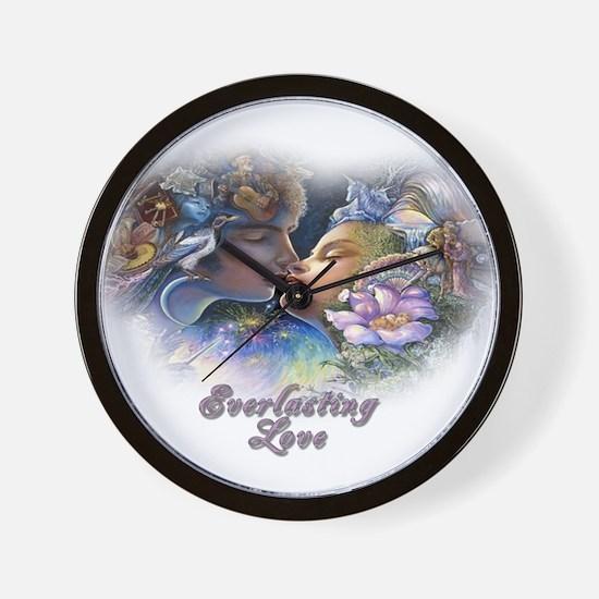 Everlasting Love Kiss Wall Clock