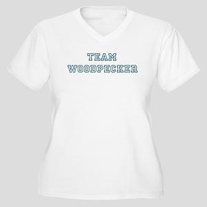 Team Woodpecker Women's Plus Size V-Neck T-Shirt