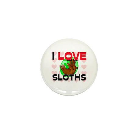 I Love Sloths Mini Button (10 pack)